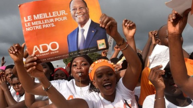 Ivory Coast President re-elected with 94% of votes