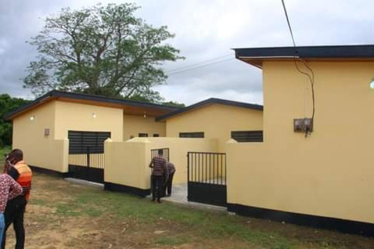 South Tongu DCE Inaugurates Police station and staff bungalow at Adutor