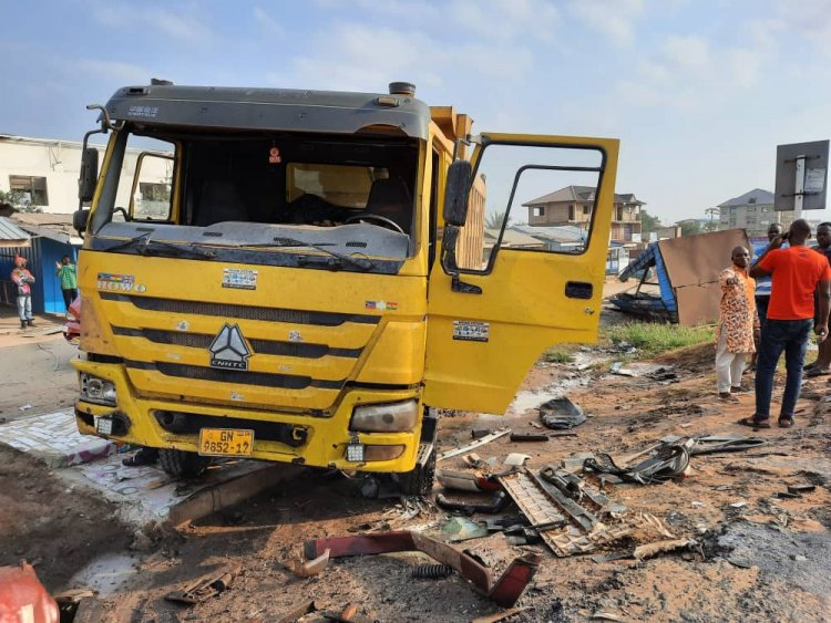 Truck driver loses life in an accident in Kumasi