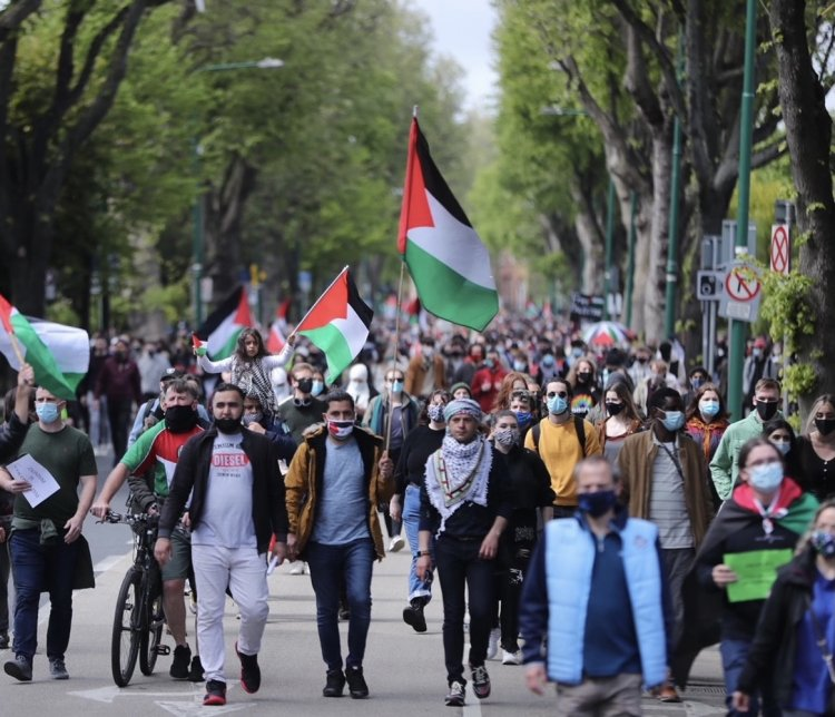 Thousands March Agianst Isreal's Oppresion