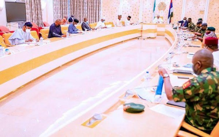 President Buhari Presides Over Emergency National Security Meeting