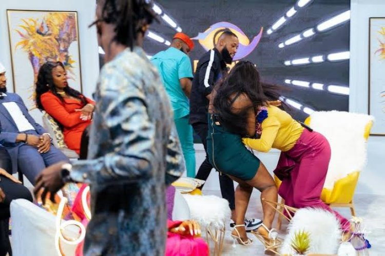 BBNaija Reunion: Kaisha, Lucy Engage In Physical Fight