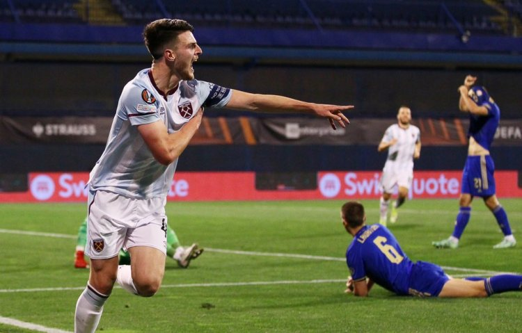 Declan Rice scores a stunning solo goal against Zagreb